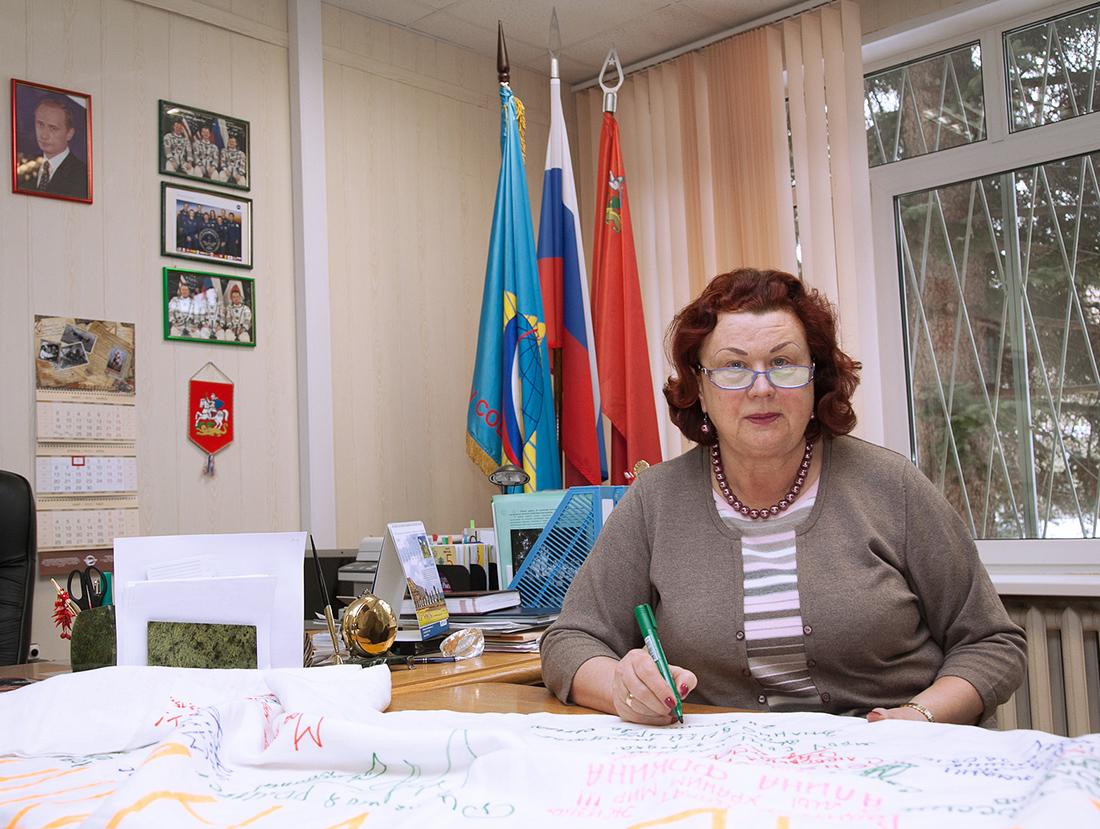 Скатерть мира встретила средняя общеобразовательная школа имени В.М.Комарова